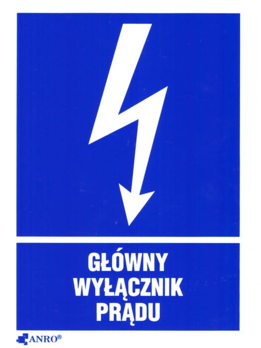 Znak główny wyłącznik prądu Z-20EIA-P-74x105