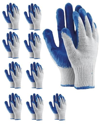 10 par rękawice robocze wampirki OX-UNIWAMP lateks
