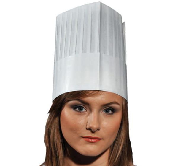 Czapka kucharska papierowa-wysoka